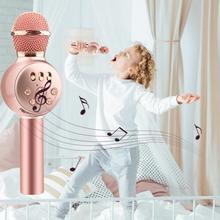Красочные огни мобильный телефон караоке игрушечный микрофон для детей пение музыка Беспроводной Bluetooth караоке игрушечный микрофон