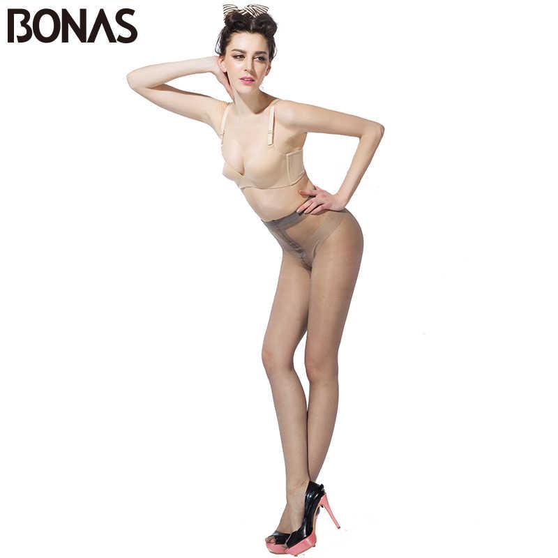 Bonasタイツ女性 15Dナイロン薄型女性のストッキング 6pairs t股セクシーなストッキングファッション固体スパンデックススリムcollantファムギフト