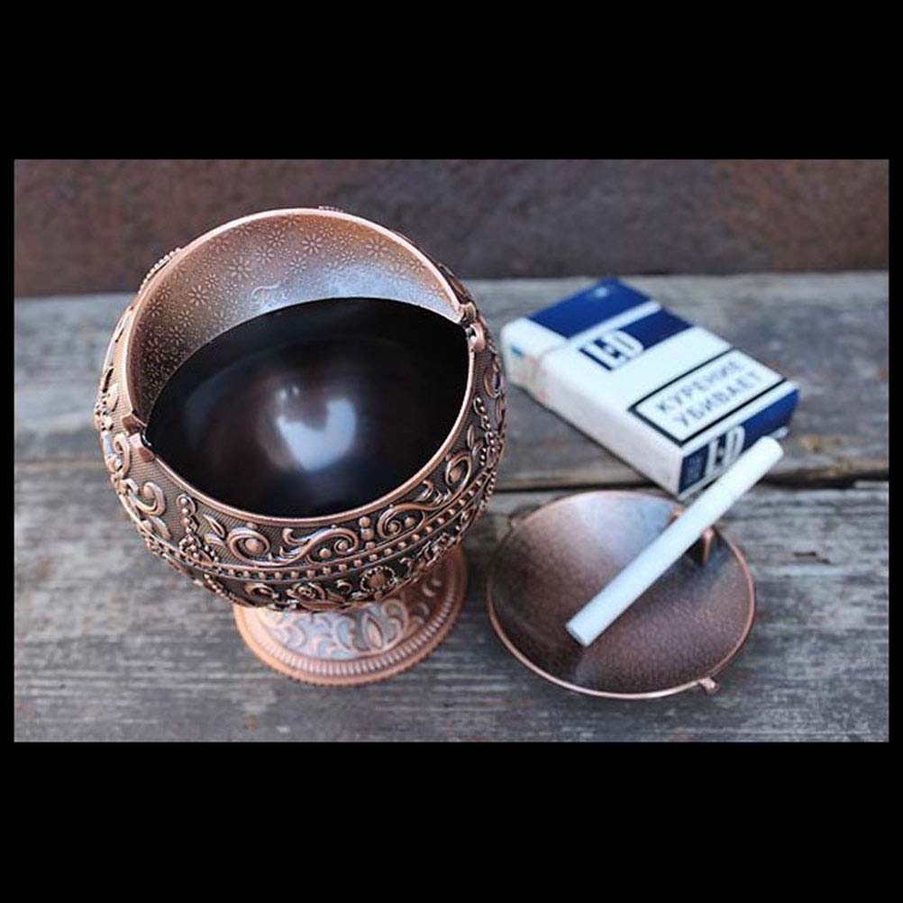 Image 5 - 1 Pc Ashtray Embossed Flower and Castle Creative Vintage Portable Ash Holder Ash Tray for Outdoor Home Indoor Use-in Ashtrays from Home & Garden