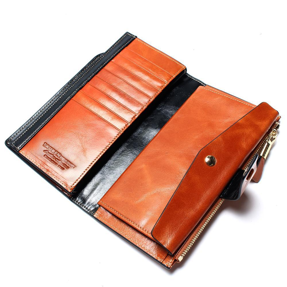 2019 Ny design mode multifunktionell handväska äkta läder plånbok - Plånböcker - Foto 4