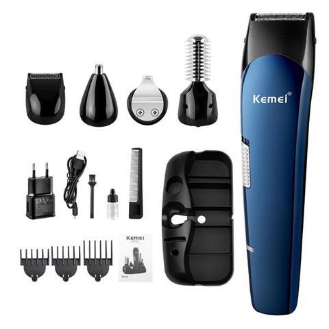 Beard Trimmer  Kemei 5 in 1 Portable Hair Trimmer Titanium Hair Clipper Electric Shaver Pro Hair Cutting Machine Pakistan