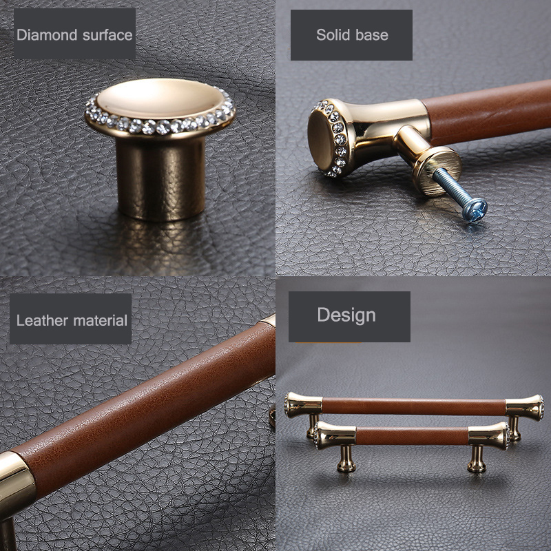 Luxury Zinc Alloy Door Handles For Kitchen Cabinet Wardrobe Bedroom Knob Furniture brown Handle Z 2121 in Cabinet Pulls from Home Improvement