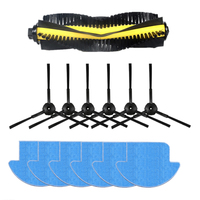 13pcs/set ilife v7s ilife v7s pro robot Vacuum Cleaner Parts kit ( Main Brushx1+mop Clothsx6+Side Brushx6) ILIFE v7s pro