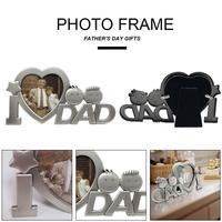 Innovative Personality Cute Design Metal Photo Frame Picture Frame Decoration Frame As Father's Day Gifts