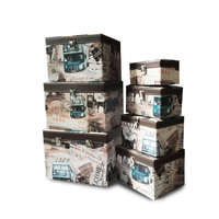 3pcs Decorative Ornamental Storage Box Case Keepsake Gift Storage Box Collection Case with Locks
