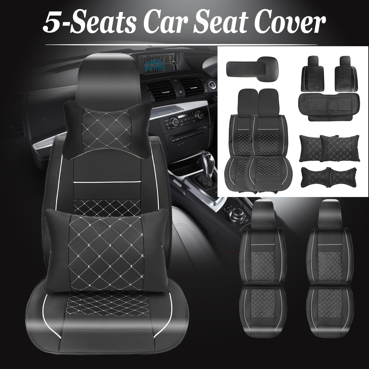 11pcs Set Universal Car Seat Cover For Toyota Corolla Accessories