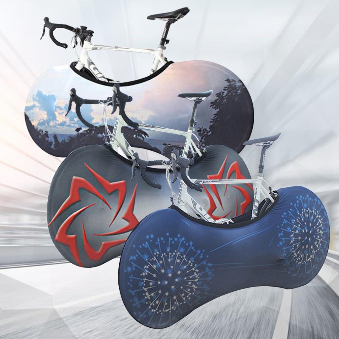 Bicicleta práctica cubierta de ruedas de bicicleta a prueba de polvo a prueba de arañazos cubierta de bolsa de almacenamiento de interior equipo de protección para la carretera de montaña bicicleta