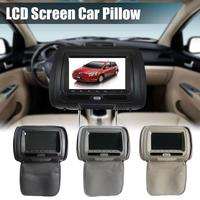 Universal 7 Inch Car Headrest Monitor DVD HD Display Car DVD MP5 Player USB LCD Screen Car Pillow Headrest Monitor Hot Sale