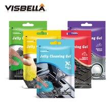 Visbella 80gm гель для очистки желе и грязи, Очищающий губки для автомобиля, Очищающий зазоры углов пыли и грязи, универсальный уход за кибер-краской