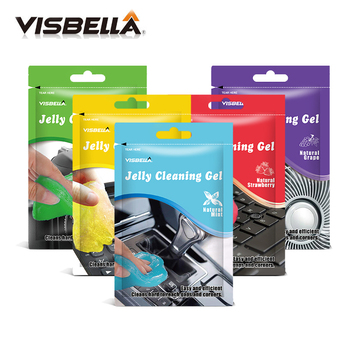 Visbella 80gm Jelly Cleaning Mud Gel Car Clean Sponges Clear the Gaps  Corners of Dust and Dirt Universal Cyber Super Glue