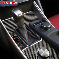For LEXUS IS250 300H Accessories Carbon Fiber Interior Control Gear Shift Panel Stickers Decorative 2013 2018 Car Styling