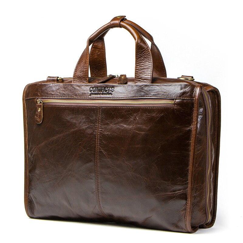 Bagaj ve Çantalar'ten Evrak Çantaları'de En Kaliteli Inek Derisi Deri erkek çanta 15.6 Inç Dizüstü Bilgisayar Için Adam Bilgisayar Çantası Erkek omuz çantaları Lüks Çanta Seyahat Evrak'da  Grup 1