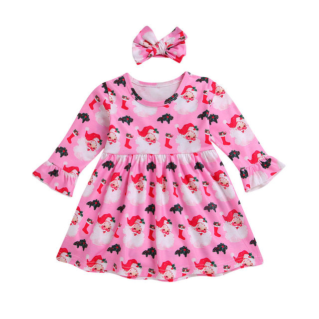 a701a21c2 Christmas Newborn Infant Baby Dress For Girls Long Sleeve Tutu Party ...