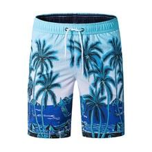 d254e99eb5bc2 Estilo Tropical Coqueiro Imprimir Board Shorts Homens Secagem Rápida Praia  Shorts 2019 Nova Bermuda Homem Praia · 2 Cores Disponíveis