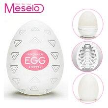 Meselo Wavy Eggs Male Masturbator Realistic Vagina Real Pussy Vaginal Adult Toys Penis Trainer Sex Toys For Men Masturbatings