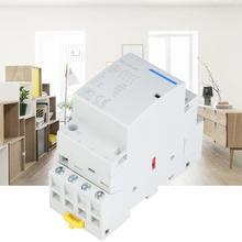 цена на contator 4P 20A 2NO 2NC 24V 220V/230V Household AC Contactor DIN Rail Mount magnetic contactor