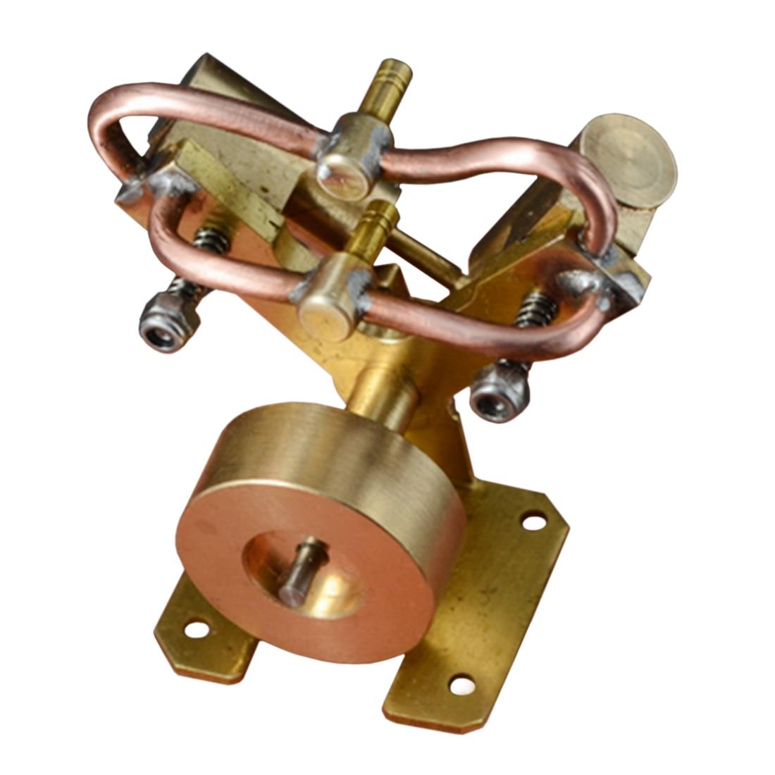 Mini modèle de moteur à vapeur à Double cylindre en cuivre pur en forme de V jouet cadeau éducatif créatif Durable pour Kit scientifique d'apprentissage pour enfants
