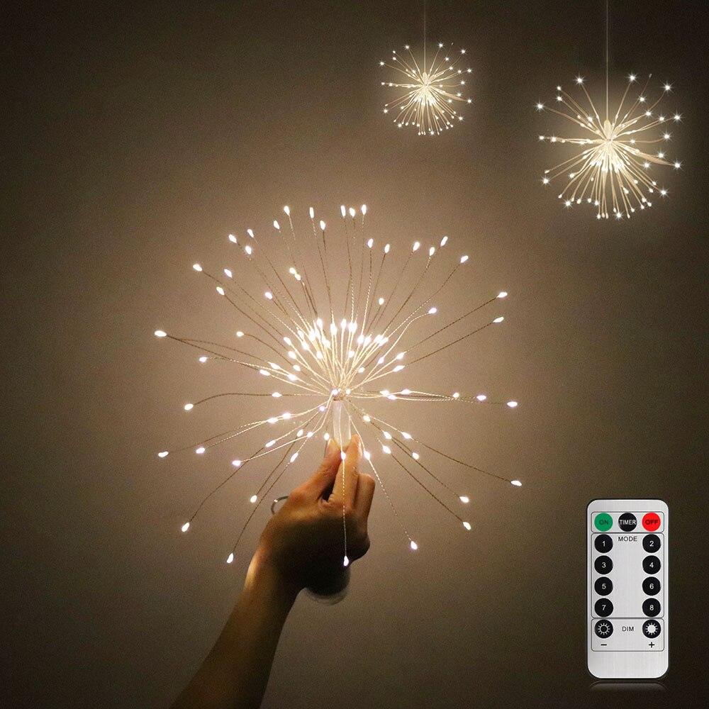 DIY Feuerwerk Licht Faltbare Bouquet Form LED String Dekorative Fairy Lichter Für Girlande Terrasse Hochzeit Party Weihnachten Licht