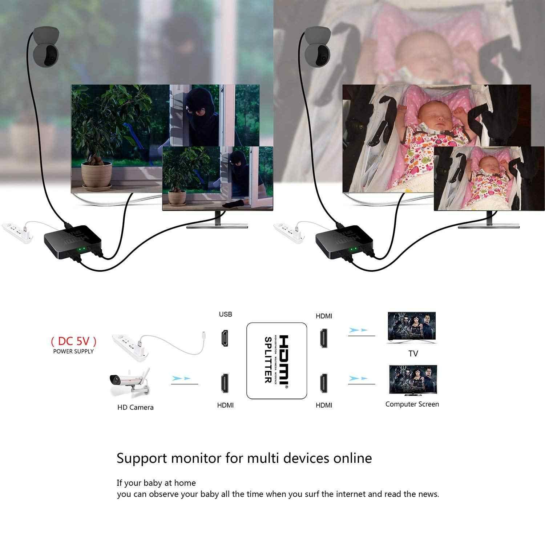 4 k HDMI スプリッタ HDCP フル Hd 1080 p ビデオ HDMI スイッチスイッチャー 1 × 2 分割で 1 2 HDTV DVD PS3 ため Xbox
