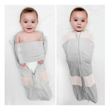 DALEMOXU 2PC Cocoon Baby Sleeping Bag Envelope For Newborn 0-9 Month Cotton Swaddling Spring Summer Bedding Accessories