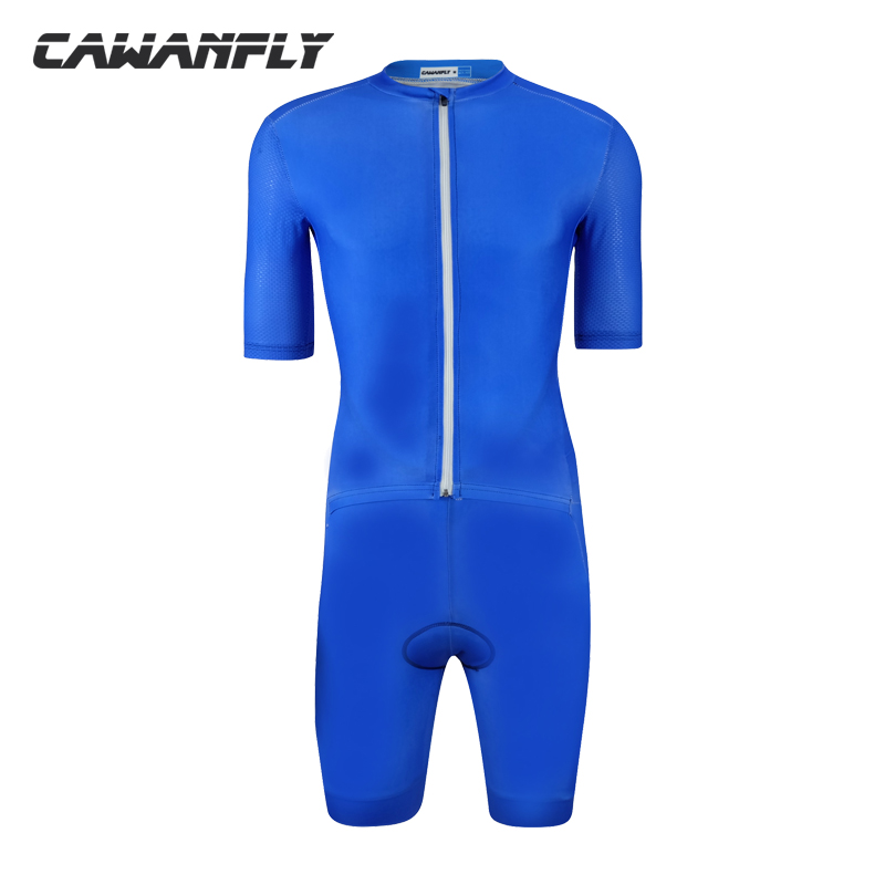2018 Real Pro Team Triathlon Suit Men Skinsuit Jumpsuit Maillot Short Sleeve Cycling Jersey Ropa Ciclismo Bike Sports Clothing