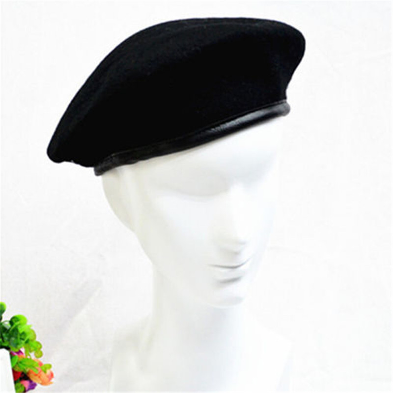 U.S MILITARY ISSUE BLACK WOOL BERET ROTC-MADE IN THE U.S.A BANCROFT SIZE 6 7//8