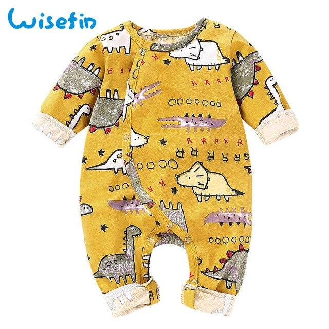 efcddc0bc4d Wisefin Baby Boy Romper Animal Baby Costume Print Romper Jumpsuit Long  Sleeve Baby Rompers Newborn Baby Onesie Infant Romper 3M