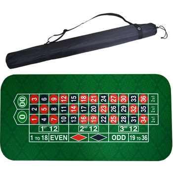 183*90Cm Wildleder Gummi Platz Grün Roulette Black Jack Poker Tisch Matte Poker Gaming Tisch Tuch Bord Tuch mit Schulter Tasche