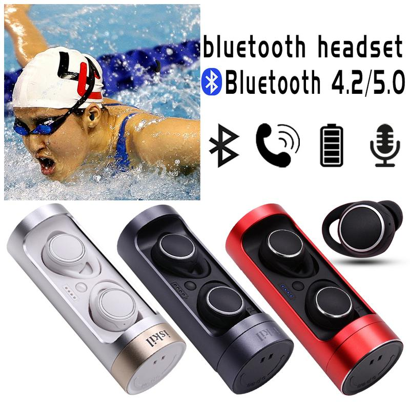 New Bluetooth 5.0 TWS Bluetooth 4.0 Earphone Wireless 2018 Explosion Bluetooth Headset With Charging Compartment