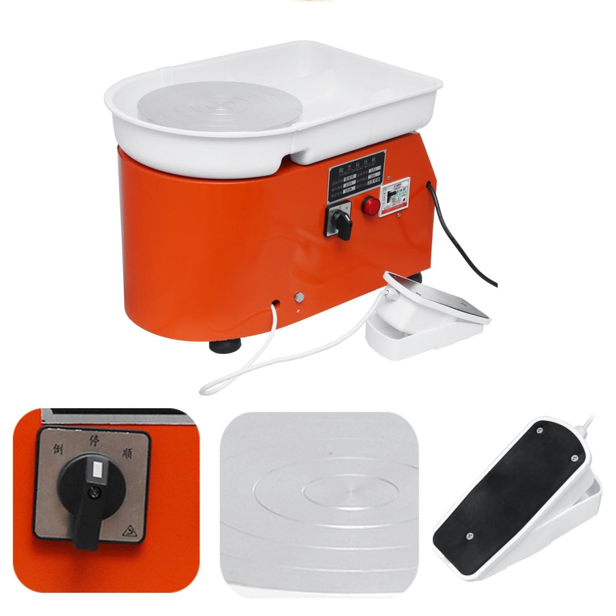 Poterie formant la Machine 110 V/220 V 350 W poterie électrique roue argile pour travaux pratiques outil avec plateau pédale Flexible pour les travaux en céramique - 3
