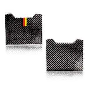 Image 1 - لمرسيدس بنز C الفئة W205 C180 C200 C300 GLC260 ألياف الكربون سيارة الخلفي مسند الذراع صندوق تخزين غطاء لوحة