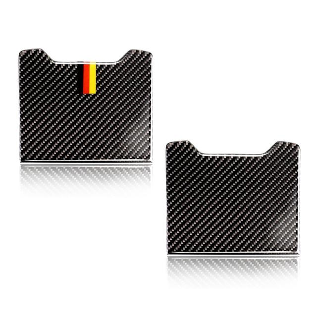 لمرسيدس بنز C الفئة W205 C180 C200 C300 GLC260 ألياف الكربون سيارة الخلفي مسند الذراع صندوق تخزين غطاء لوحة