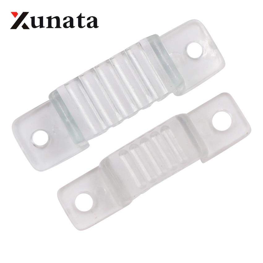 10pcs 100pcs 12mm 18mm LED Strip Clips For 110V 220V 5050 2835 5054 LED Strip Plastic Buckle High Quality Flexible Accessories