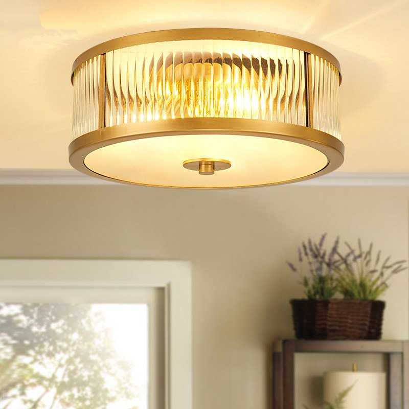 Modern Copper LED Ceiling Lights Living Room Lamps Bedroom Study Luminaria Kitchen Fixtures