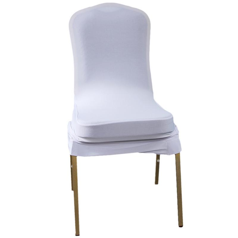 100pcs Elastic Polyester Spandex Chair Covers White Elastic And Feature Excellent Hand Feel And A Long Lifespan 2019 New