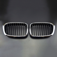 100% Brand New And High Quality ABS plastic Black and silver surround Front Chrome Grille Grill For B/MW E39 5 series 97 03