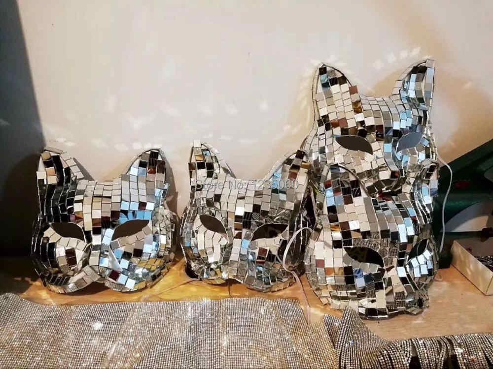 Mirror Mask Mirror Man Suit Party Diy Decorations Aliexpress