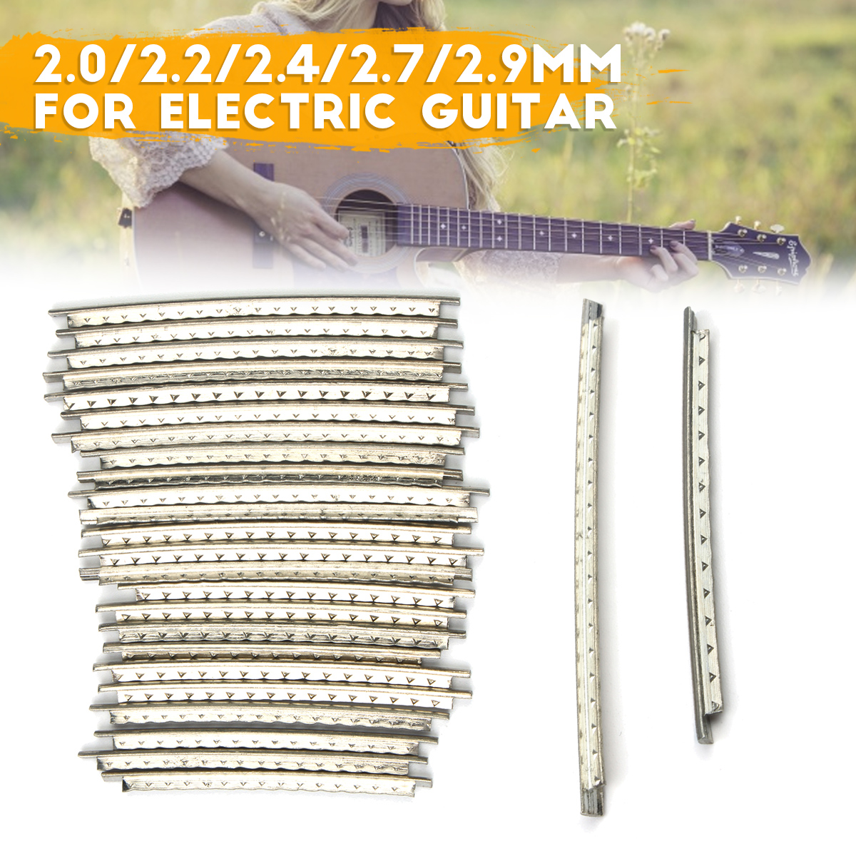 Timiy Carbon Steel Nut File Set Guitar Double Sided Gauged Nut Slotting File S