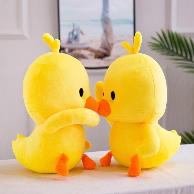 The Best 1pc Super Little Yellow Duck Plush Toys Cute Stuffed Cartoon Animal Yellow Duck Dolls Baby Nap Pillow Kids Birthday Gifts Dolls & Stuffed Toys Stuffed & Plush Animals
