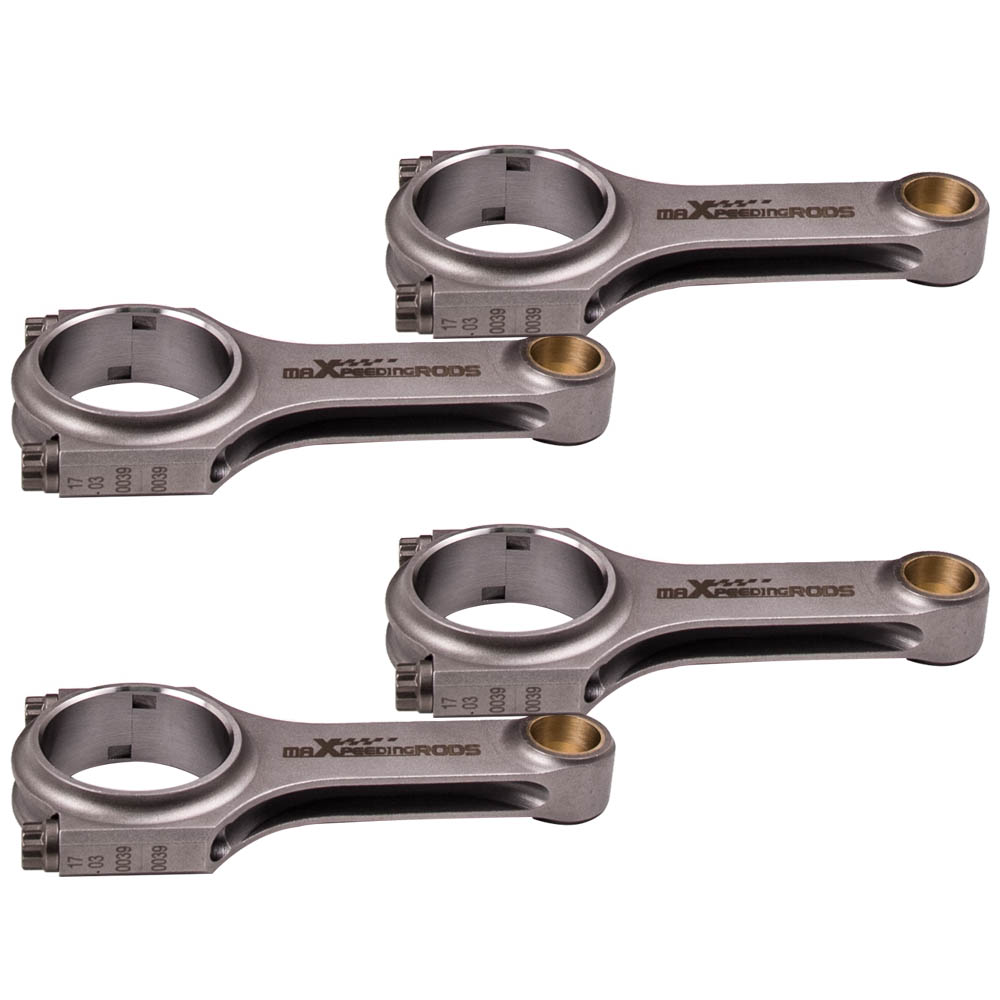 128mm Connecting Rods Fit Renault R5 GT 11 Turbo Conrod Rod Bielle Genuine 3/8 ARP 2000 Bolts 4340 Steel EN24 Forged Cranks