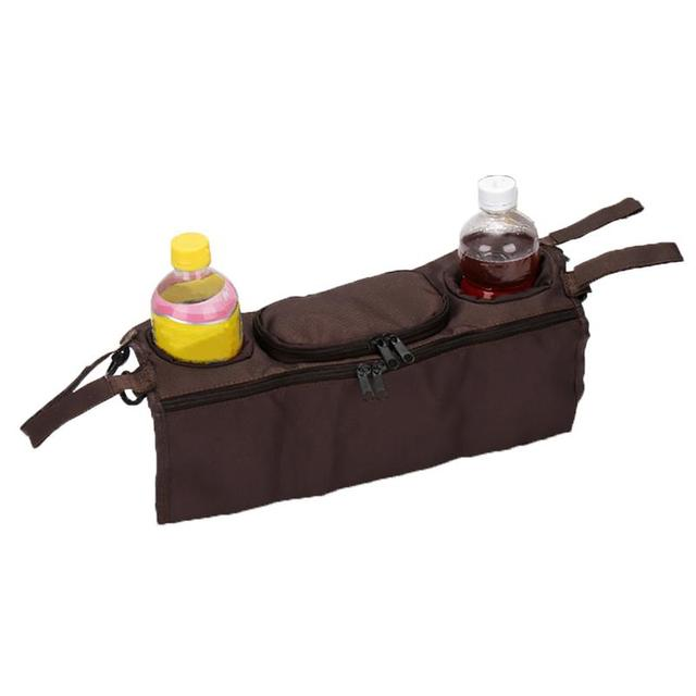 Baby Stroller Organizer Bag Safe Console Tray Pram Hanging Bags Bottle Cup Multifunctional Kids Baby Stroller Accessories