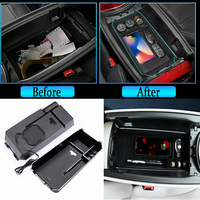 For Mercedes Benz E Class 16 18 LHD Car Interior Wireless Charging Storage Box