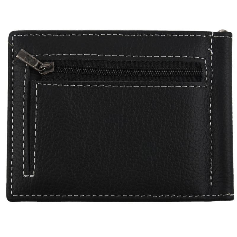 GUBINTU Men's Wallet Bifold Leather Black Wallet With