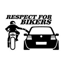 Personality Car Sticker Respect For Bikers Reflective Modification Body Waterproof Universal
