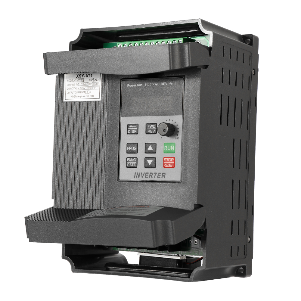 VFD 2.2KW 12A 220 V VFD régulateur de vitesse de fréquence moteur à courant alternatif monophasé dans le AT1-2200S d'inverseur Variable triphasé