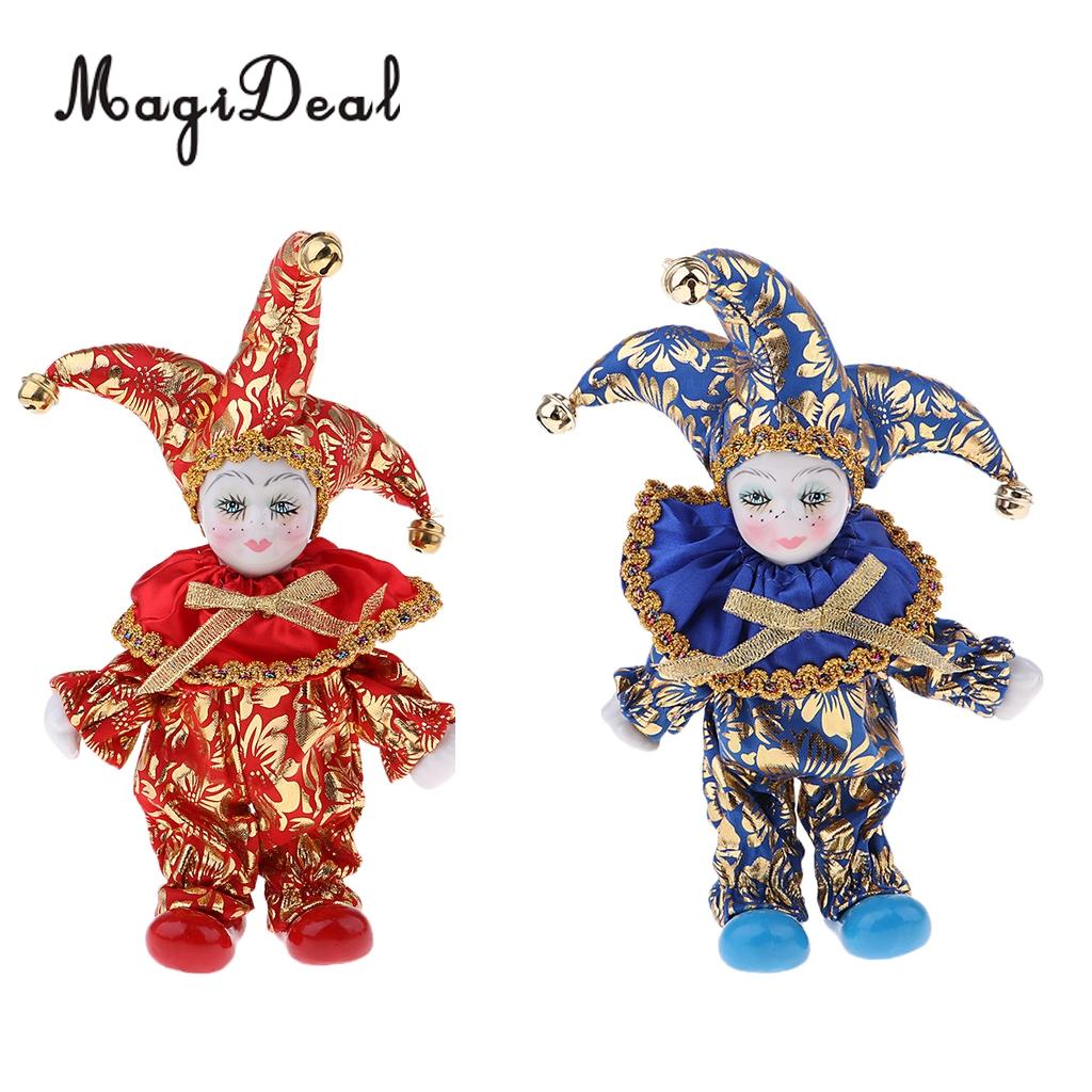 16cm Pretty Italian Porcelain Triangel Doll in Colorful Clothes Home Decoration
