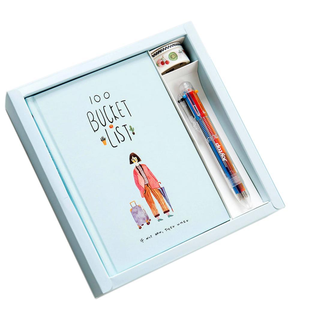 Stationery Diary Notebook And Pen Journal Notepad Set About 140