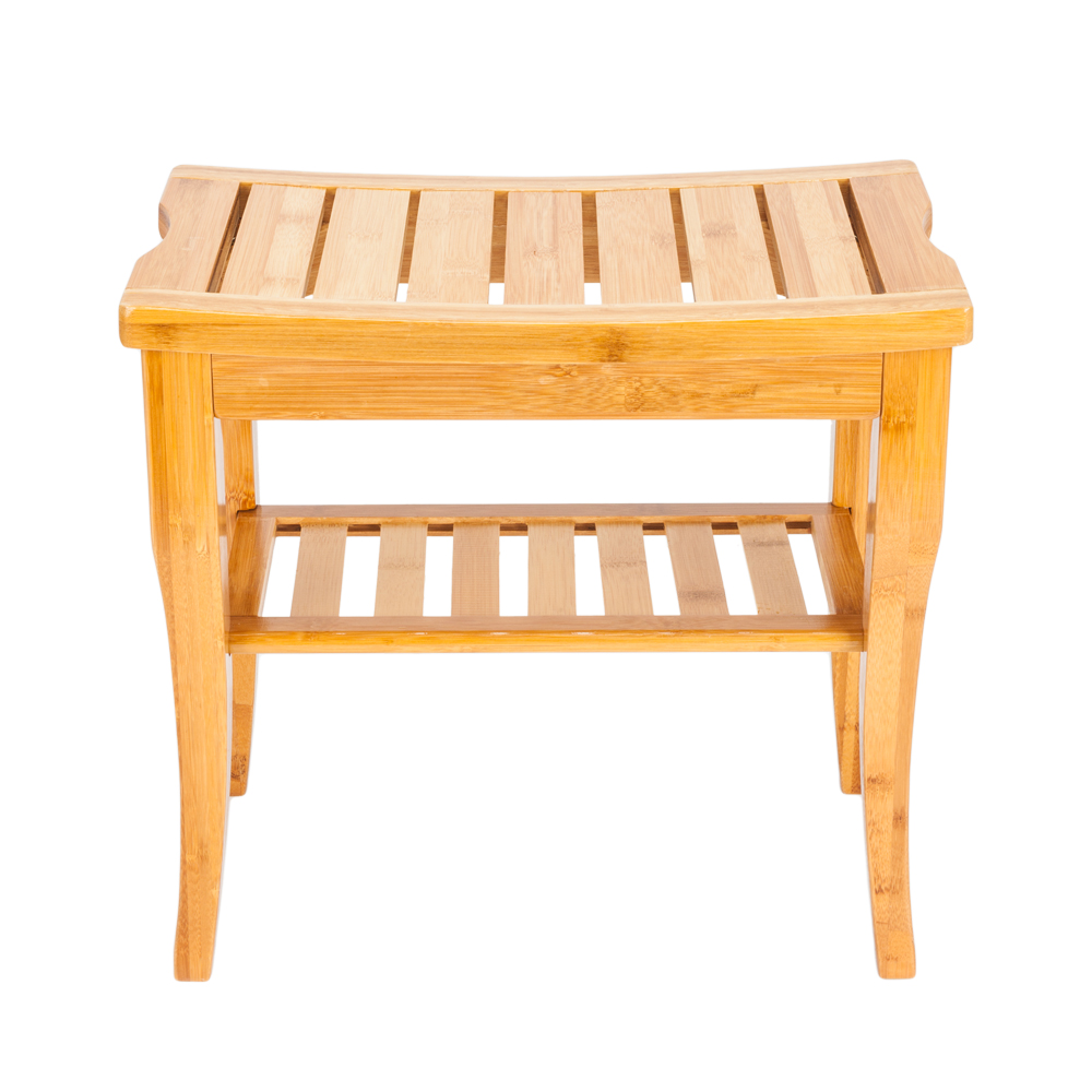 Discreet 47.5x26x44.5cm Bamboo Bath Stool Sandal Wood Color Home Bamboo Stool Bathroom Storage Bathroom Chairs & Stools