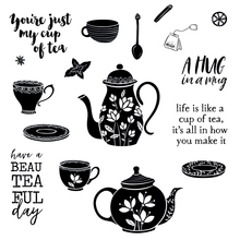 Cup of tea Transparent Clear Silicone Stamp/Seal for DIY scrapbooking/photo album Decorative clear stamp it is tea time christmas transparent clear silicone stamp seal for diy scrapbooking photo album clear stamp wedding giftyes276