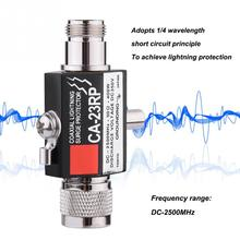 400W Lightning Arrestor N Male Plug to N Female Coaxial 0-2.5GHZ 400W CA-23RP 50ohm DC-2500MHz N Connector(China)